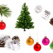 Stock Photo: Variety of christmas decoration objects