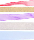 Colorful ribbon textures for decorating — Stock Photo