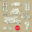 City Traffic Icons — Stock Vector