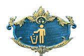 Trash icon plate — Stock Photo