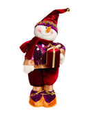 Christmas snowman toy — Stock Photo
