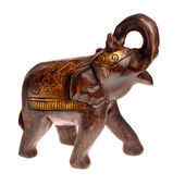 Handcraft wooden elephant statue — Stock Photo