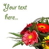 Ozdoba na kartkę z życzeniami z herbacianych róż — Zdjęcie stockowe