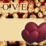 Hearts with diamonds — Stock Photo