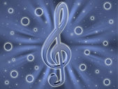 Background with a clef — Stock Photo
