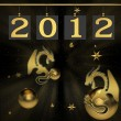 Stock Photo: Background for new 2012 year