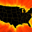 USA map — Stock Photo #6820700