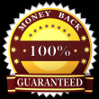 Stock Photo: Money back guarantee label