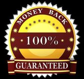 Money back guarantee label — Stock Photo
