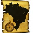 Royalty-Free Stock Photo: Map of Brazil