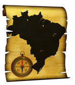 Map of Brazil — Stockfoto