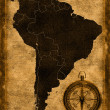 Royalty-Free Stock Photo: Map of South America