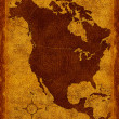 Map of North America — 图库照片
