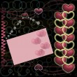 Hearts on abstract background — Stock fotografie
