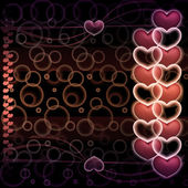 Hearts on an abstract background — Stock Photo