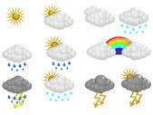 Iconos de nube — Foto de Stock