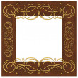Frame with a pattern — Stock Photo