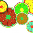 Background of fruit lobes — Stock Photo