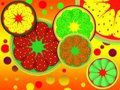 フルーツの葉の背景 — ストック写真