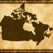 Royalty-Free Stock Photo: Map of Canada