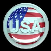 The button USA — Stock Photo
