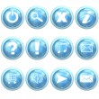 Blue set of buttons — Stock Photo