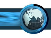 Background with a globe — Stock Photo