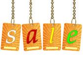 Продажа надпись — Стоковое фото