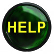 The green button help — Stock Photo