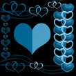 Hearts on abstract background — Stock Photo