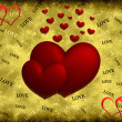 Foto Stock: Red hearts