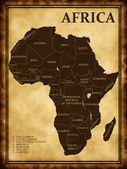 Mapa da África — Fotografia Stock