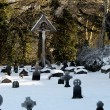 A Snow Covered Graveyard — Stock Photo
