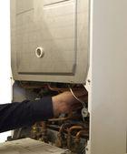Servicing Gas Combination Boiler — Stock Photo