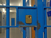 Prison Cell Door Lock — Stock Photo
