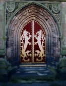 A Gothic Church Door — Stockfoto