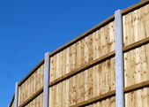 Vertical board fence panel — Stock Photo