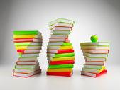 Books. 3d Illustration on a white background — Stock Photo