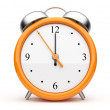 Orange alarm clock 3d. Icon. Isolated on white background — Stock Photo #7859161