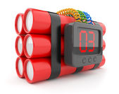 Bomb with clock timer 3D. Countdown. Icon isolated on white back — Stock Photo
