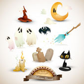 Halloween Elements Set — Vector de stock