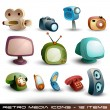 Cute Household Icons - Stok Vektör