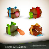 Christmas Gifts with Personality — Stock Vector