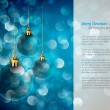 Royalty-Free Stock Vector Image: Christmas Lights and Spheres | Greeting for Poems