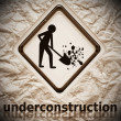 Under construction sign symbol — Stockfoto