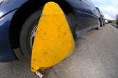 Wheel Clamp Parking Infringement — Stock Photo
