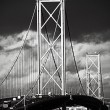 Stock Photo: Forth Road Bridge, Edinburgh, Scotland
