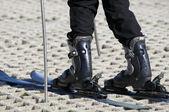 Esquiador em uma pista de esqui seco — Fotografia Stock