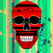 Red scull — Stock Photo #7625932