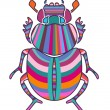 Stock Vector: Scarab
